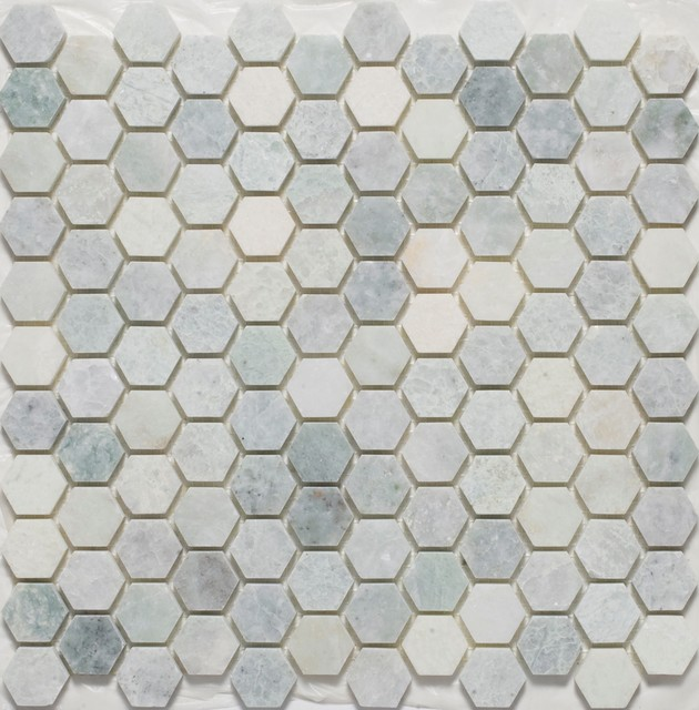 Hexagon Mosaic Tiles traditional floor tiles