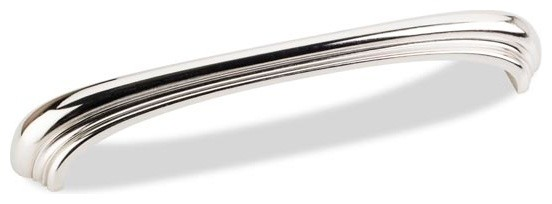 "Jeffrey Alexander 6-7/8"" Amsden Decorative 3-3/4"" Handle Pull - Polished Nickel modern-cabinet-and-drawer-handle-pulls"