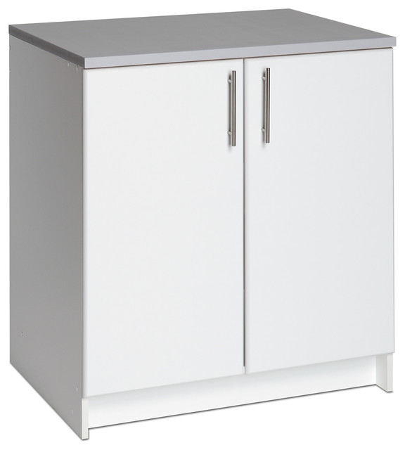 Winslow White 32-inch Elite Base Cabinet with Two Doors - Contemporary ...