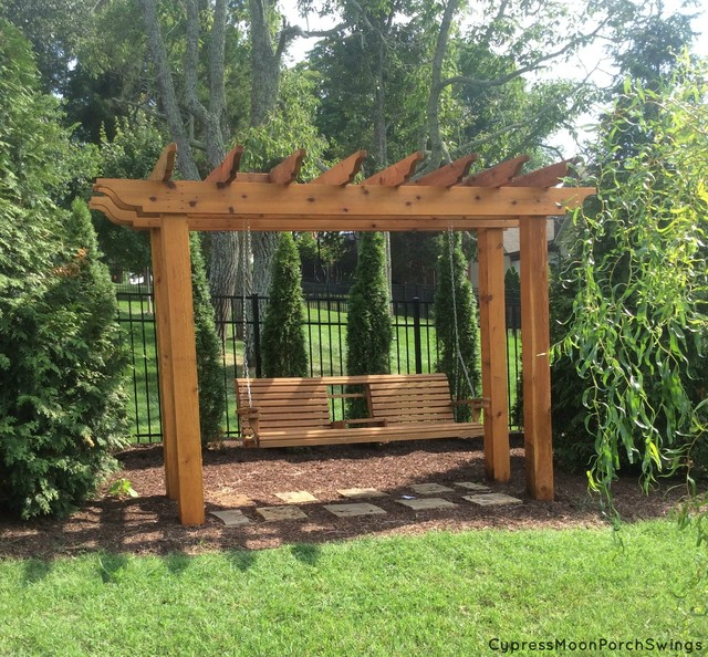 Porch Swing Gazebo Traditional Swings Other Metro By Cypress Moon