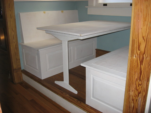 breakfast nook table and benches traditional atlanta
