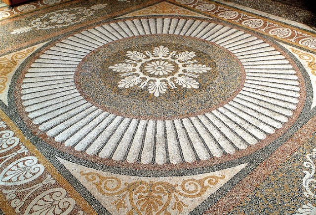 Custom Designed Handcrafted Marble Mosaic Projects mediterranean