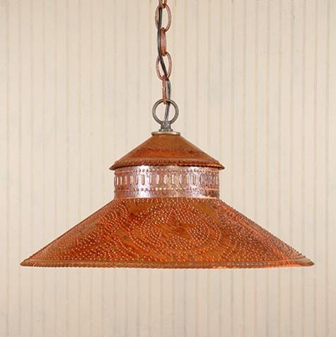 Rustic tin pendant light for Houzz rustic lighting