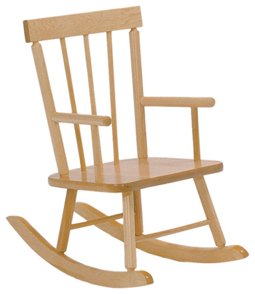 ... Toddler Solid Maple Childs Rocker Arm Chair contemporary-kids-chairs