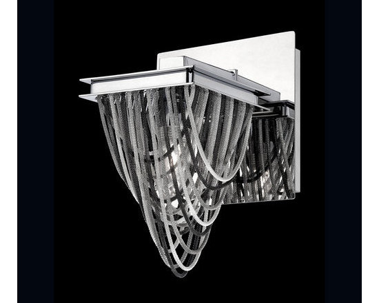 Eurofase Lighting - Eurofase Lighting 26318 Wasaga 1 Light Metal Wall Sconce Draped - Features: