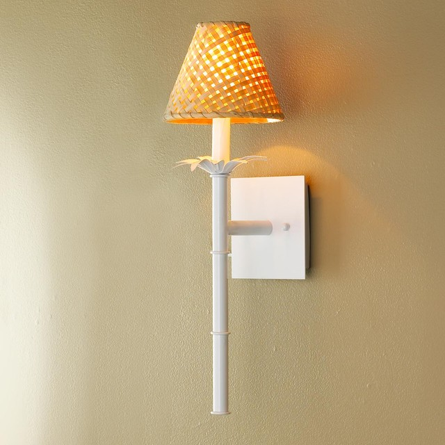 Bamboo stick sconce wall sconces by shades of light