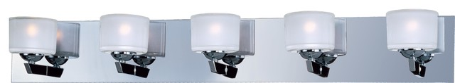 ET2 E22815 Vortex 5 Light Bathroom Vanity Wall Sconce Bulbs Included transitional-bathroom-vanity-lighting