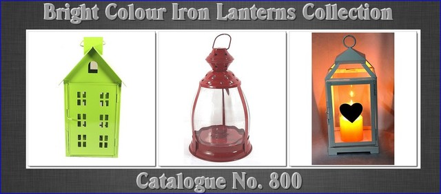 Bright Colour Indoor and outdoor Metal Lanterns contemporary-outdoor-lighting
