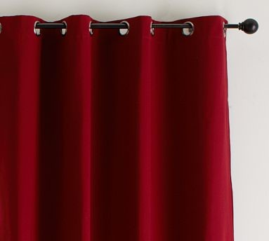 Red Curtains With Grommets - Curtains Design Gallery