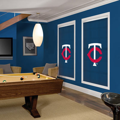 MLB Roller Shades: Minnesota Twins contemporary-window-blinds