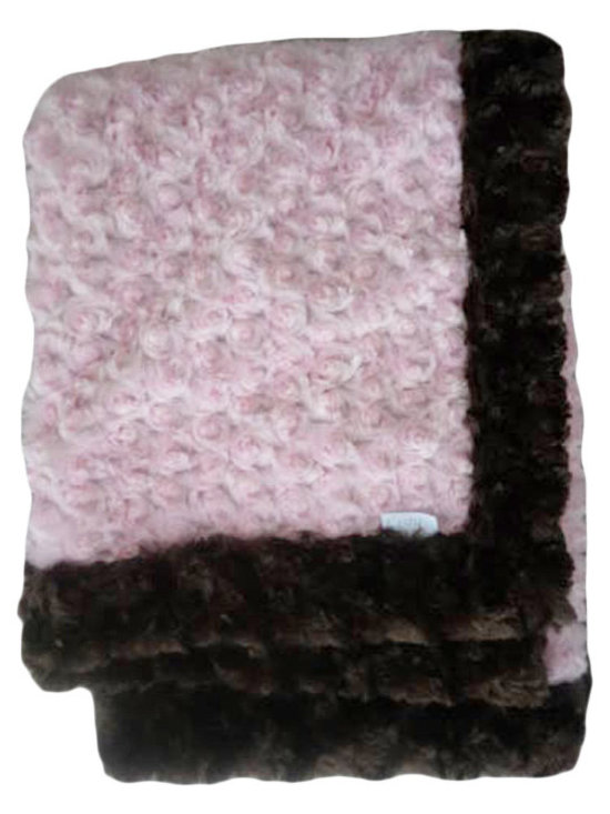 Belle & June - Baby Blanket, Chocolate and Pink - This throw blanket is supremely soft and cozy while its two-tone color scheme keeps it looking elegant and sophisticated in any nursery. Buy this blanket for your baby or give as a shower gift to expectant parents. They will be sure to love and cherish it.