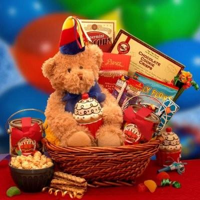 Make A Wish Birthday Gift Basket modern-baskets