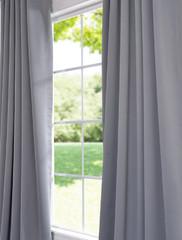 Grommet Neutral Grey Blackout Curtain (Item Code: BOCH-174402-GR)