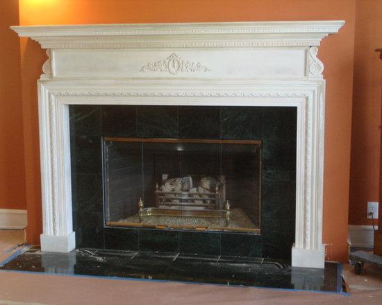 TheMantelGuy.com - Classic Style Fireplace Mantel - Classic Mantel by  TheMantelGuy.com 310 328 3021
