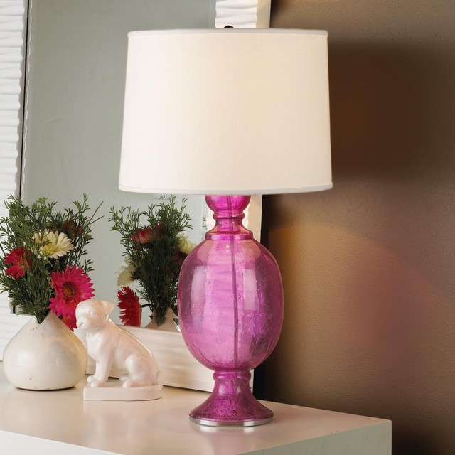 Seeded Glass Table Lamp New Color Pink Lamp Shades By Shades Of Light