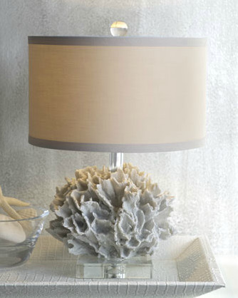 """White Coral"" Mini Lamp tropical-table-lamps"