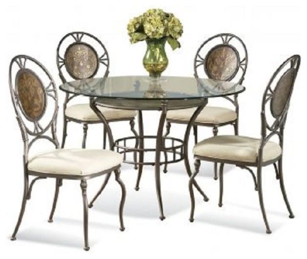 Bassett Mirror 5 Pc Cameo Round Table Dining Room Set