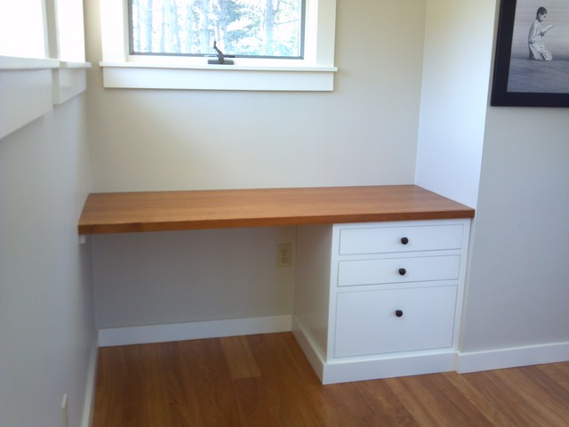 built in desk contemporary desks and hutches portland maine by blue spruce joinery. Black Bedroom Furniture Sets. Home Design Ideas