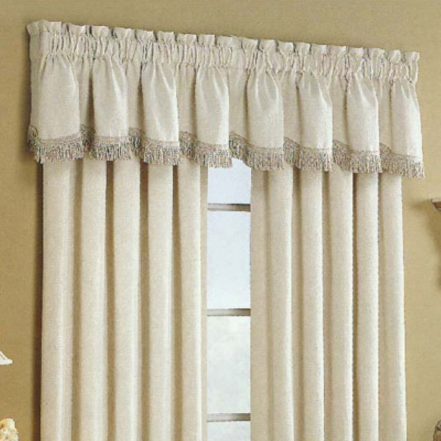 ... Curtain Hercules Matelasse Valance - Modern - Curtains - by Hayneedle
