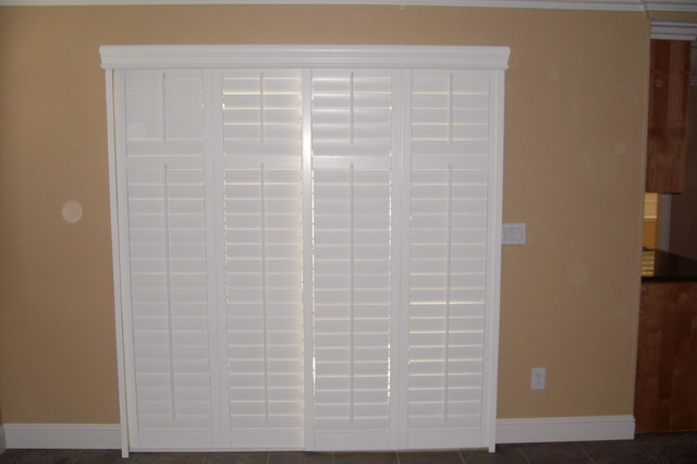 ... Shutters for Sliding Glass Door traditional-window-treatments