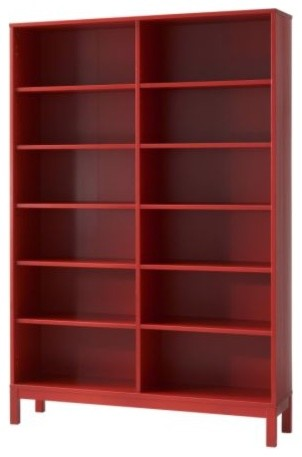 LINNARP Bookcase, Red modern-bookcases