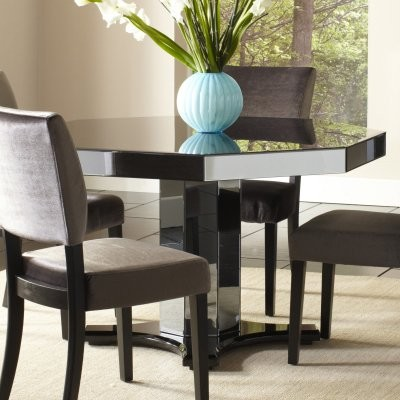 Standard Furniture Parisian Octagon Mirrored Dining Table modern-dining-tables