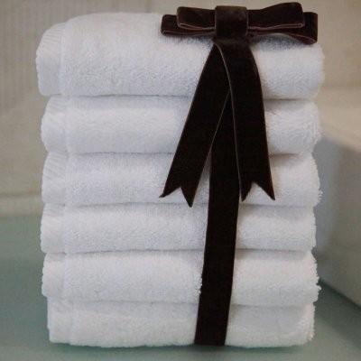Luxury Hotel & Spa 100% Turkish Cotton Soft Twist Washcloths - Set of 6 modern-towels