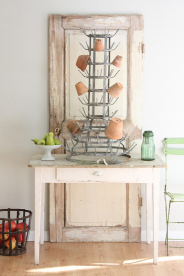 French Bottle Drying Rack - Shabby chic - Dish Racks - by ...