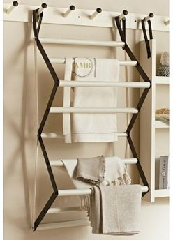 Gabrielle Laundry Organizer Drying Rack, White - Traditional - Drying Racks - by Pottery Barn