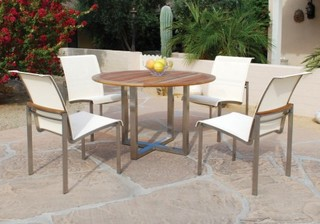 Kingsley Bate Tivoli Dining Set Modern Patio Furniture