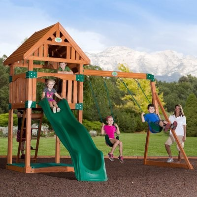 backyard odyssey trek all cedar swingset modern outdoor swingsets