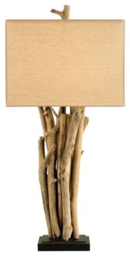 Driftwood Table Lamp by Currey & Company modern-table-lamps