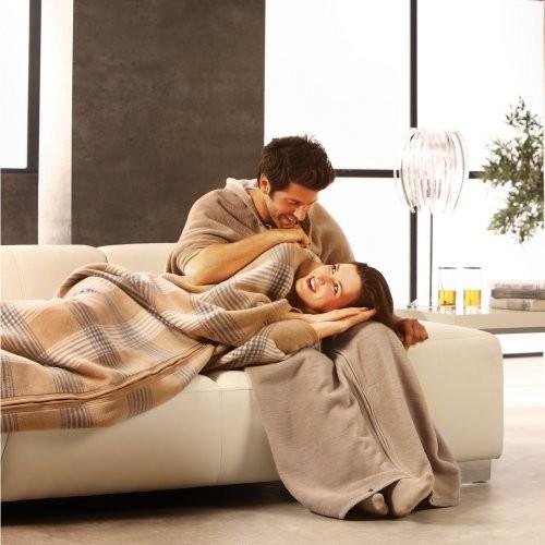 Bocasa Karo Woven Wearable Zip-up Cuddle Wrap Blanket modern-throws