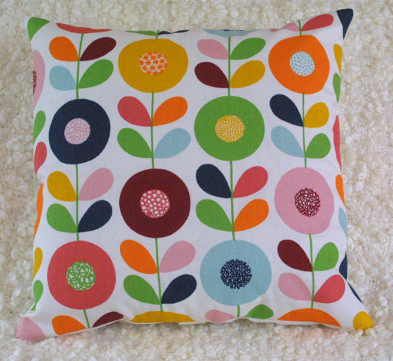 Swedish Flowers Cushion Cover by Thirtyfive Flowers modern-decorative-pillows