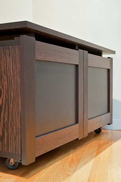 Rolling Media Cabinet - Modern - boston - by Infusion Furniture
