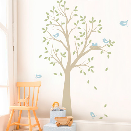 Tree with Birds and Nest contemporary-nursery-decor