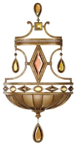 Encased Gems Wall Sconce by Fine Art Lamps traditional-wall-lighting