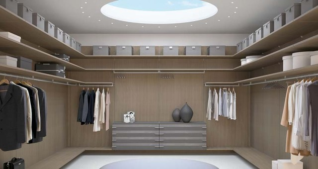 NATURA dressing room Roble Canamo, Antracita Brillo, Tul Habana finish modern closet