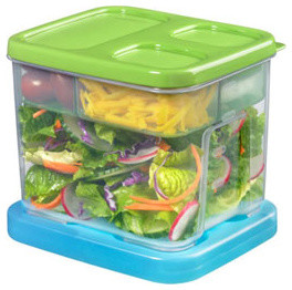 Rubbermaid LunchBlox Salad Kit - Contemporary - Lunch Boxes And Totes - other metro - by NeatlySmart