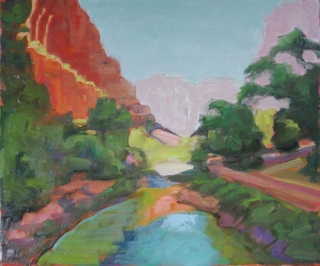 """""""Zion National Park Virgin River"""" Artwork contemporary-originals-and-limited-editions"""
