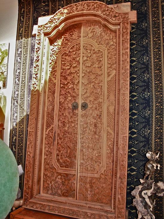 Hand Carved Wood Doors -