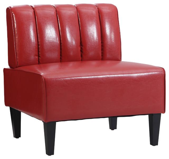 linon moda red channel back nook single bench