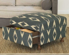 Ikat Storage Ottoman mediterranean-ottomans-and-cubes