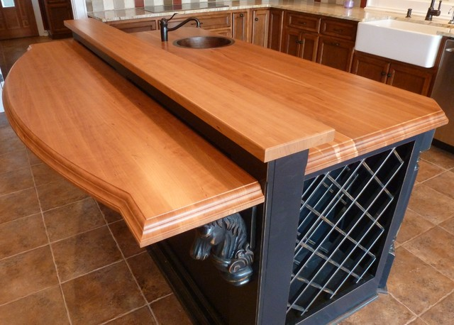 Custom Wood Countertops by The Southside Woodshop traditional-kitchen-countertops