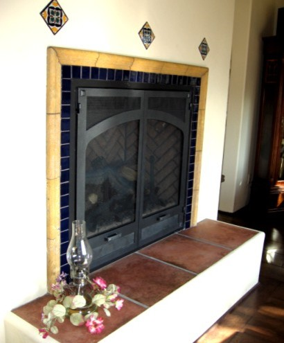 Latin Fireplaces mediterranean family room