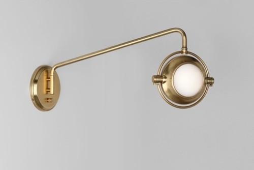 Iris 1 Light Wall Sconce modern-swing-arm-wall-lamps