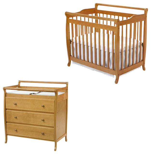 Davinci emily mini 2 in 1 convertible wood baby crib set Baby crib with changing table