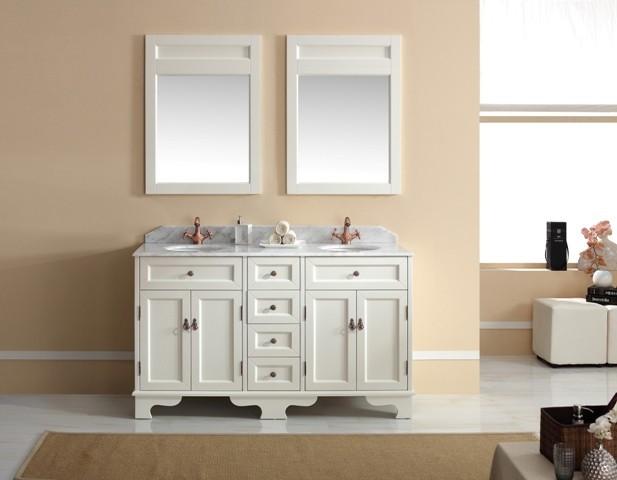Bathroom vanity units brisbane - Traditional Vanities Casoria Solid Timber White Vanity