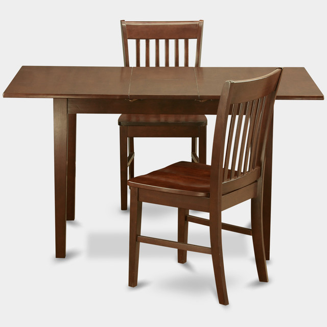 Norfolk 3pc set with 12 butterfly leaf table and 2 wood for 12 seat dining table and chairs