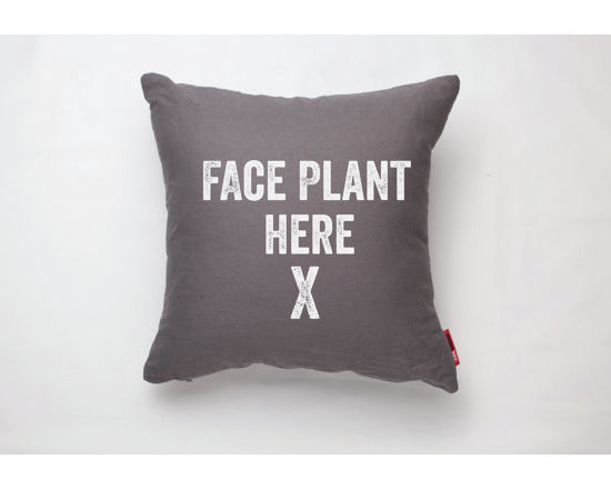 Face Plant Modern Decorative Throw Pillow by Posh 365 -